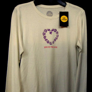 "Life is Good ""Spread the Love"" Crusher Tee"